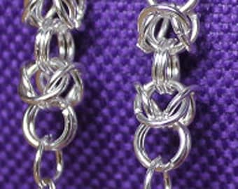Byzantine Crystal Drop Sterling Silver Plated Earrings