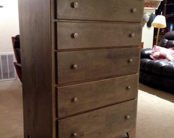Tall Cottage Chest of Drawers