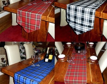 Tartan Table and Chair Runners Made to Measure