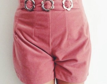 Women's vintage pink high waisted shorts