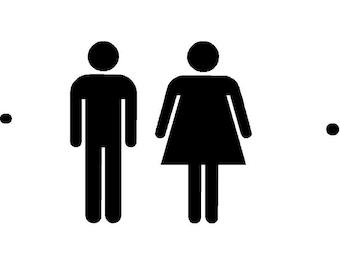 Bathroom Signs Silver silver bathroom sign | etsy