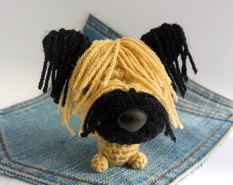 Amigurumi crochet Skye Terrier, Skye Terrier Puppy, Dog toy, Dog plushie. Stocking stuffer.