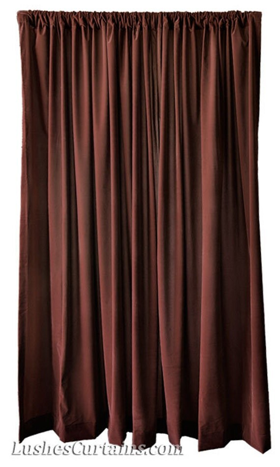 brown velvet 120 inch high curtain long panel drapes extra. Black Bedroom Furniture Sets. Home Design Ideas