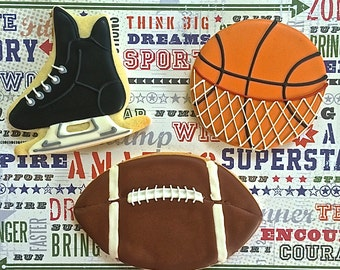 SPORTS themed Sugar Cookies