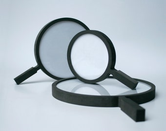 set of 3 round picture frames with modern design, fra.me