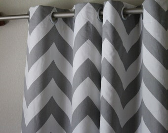 Curtains Ideas chevron curtains grey : Grey chevron valance | Etsy