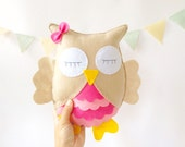 Personalized Stuffed Animal / Woodland Stuffed Animals / Felt Plush Toy / Owl Stuffed Toy / Owl Nursery Decor