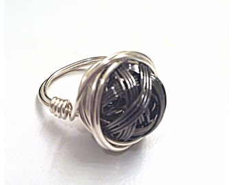 Silver Ring Wire Wrapped Shannon