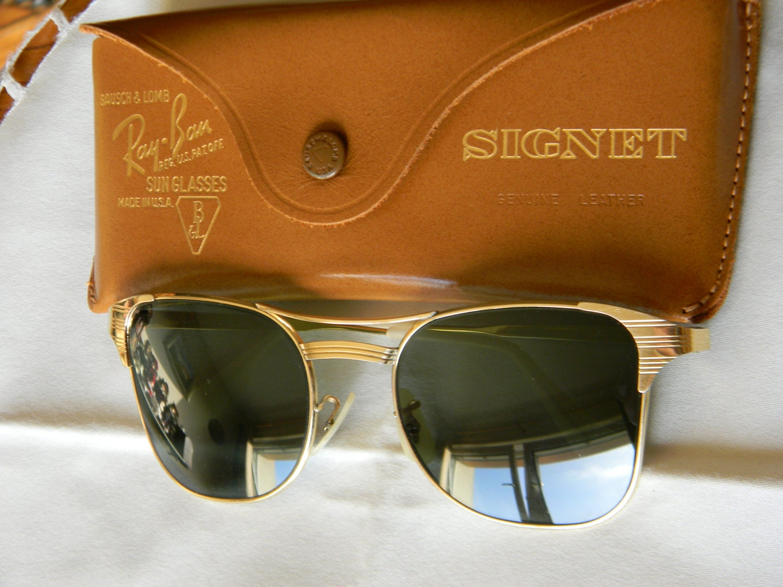 Vintage Ray Ban Signet Gold