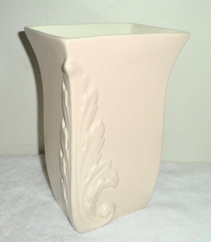 vintage art deco signed red wing usa 1105 pink vase planter. Black Bedroom Furniture Sets. Home Design Ideas