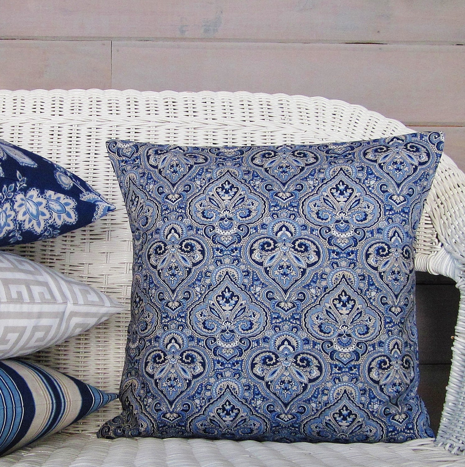 Navy Paisley Bedding Navy Blue Paisley Pillow Cover