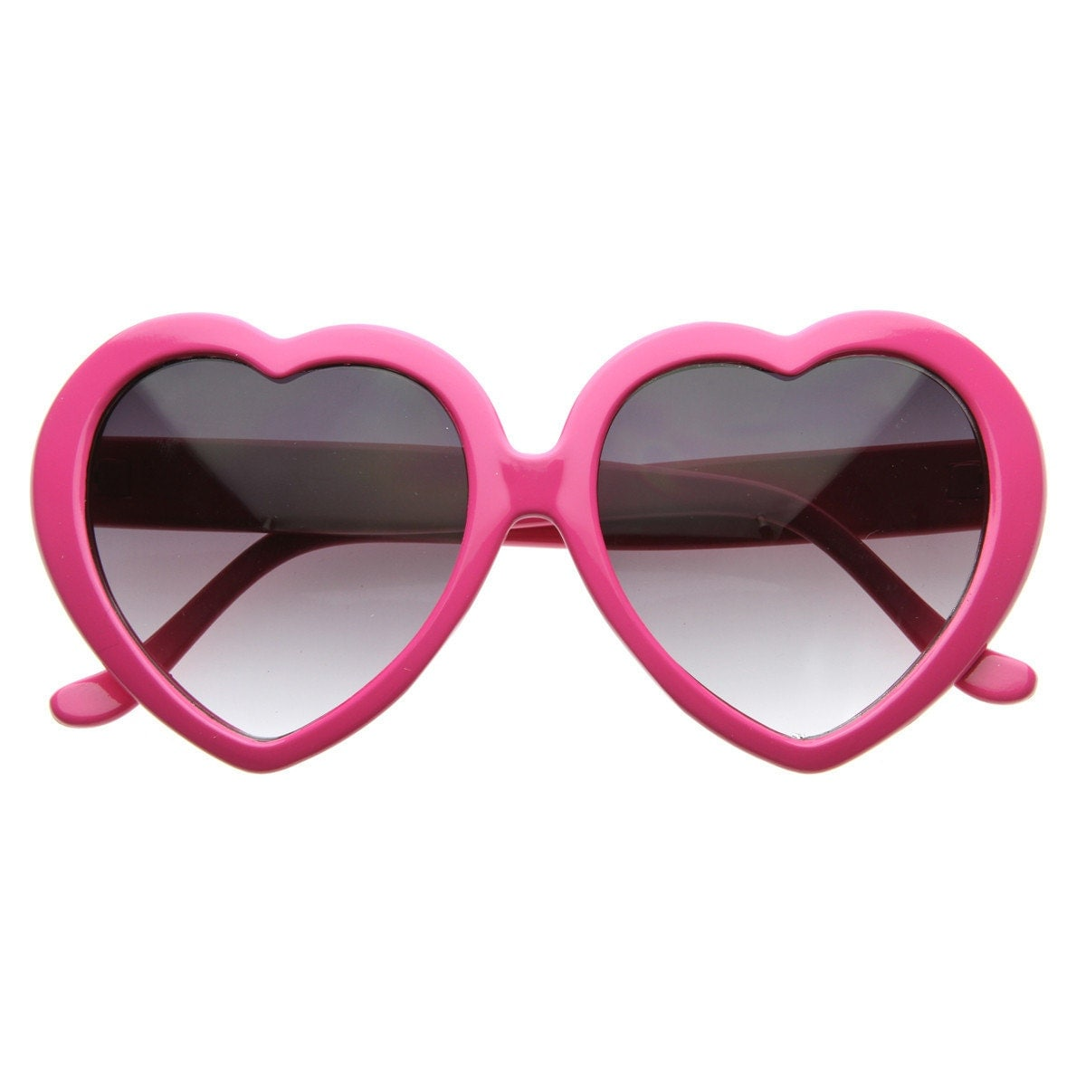 Vintage 60's Hot Pink Heart Shaped Sunglasses by houseofhades - photo#5