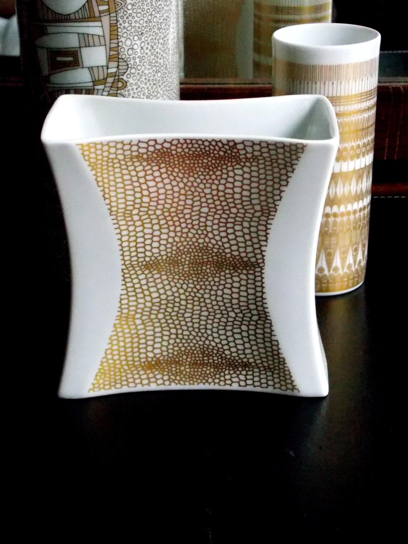 Modern White Vase Hutschenreuther West German Mid Century