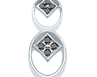 Sterling Silver Artisan Fashion Pendant with Cubic Zirconia