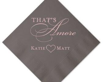 Thats Amore Personalized Wedding Napkins - Personalized Napkins
