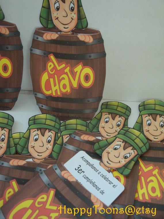 El Chavo del Ocho Party Invitations or Thank you por HappyToons