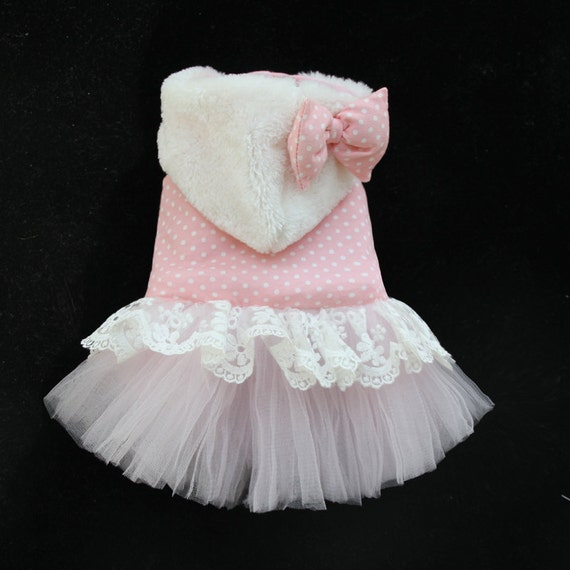Items Similar To Hand Made Pink Dot Wedding Dog Pet Dress Clothing Dog Skirt Clothes Dog Coat On