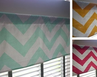 SALE*** LARGE CHEVRON Window Valance Curtain-- Premier Prints Zippy. 14x52 inches.