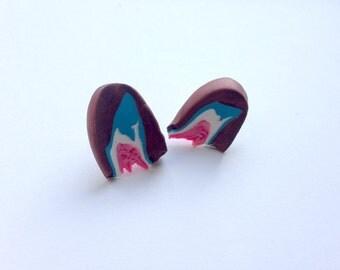 Pandora's Box Stud Earring