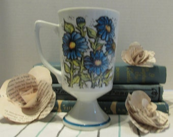 Pedestal Mug with Cornflowers by Stylecraft 1283 - Japan