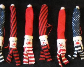 Sale: 2  Snowman Tree Ornaments - Snowman Pencil - Pen Holder -Tree Ornaments  Snowman - Christmas Gifts - Christmas