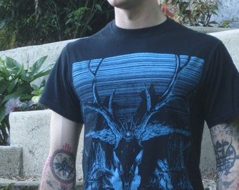Psychedelic Wizard Skull Electric Deer Shaman