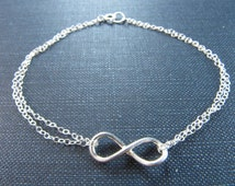 Sterling Silver Infinity Anklet