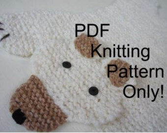 PDF KNITTING PATTERN - Bear rug