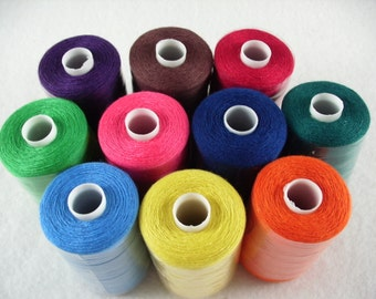 Sewing thread, 10 rolls per 1000 YRD (1033)