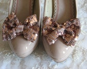 Blush shoe clips, Shoe bows clips, Bridal shoe clips, Bridal accessories, Bridal blush shoe bows - WhiteBridalBoutique