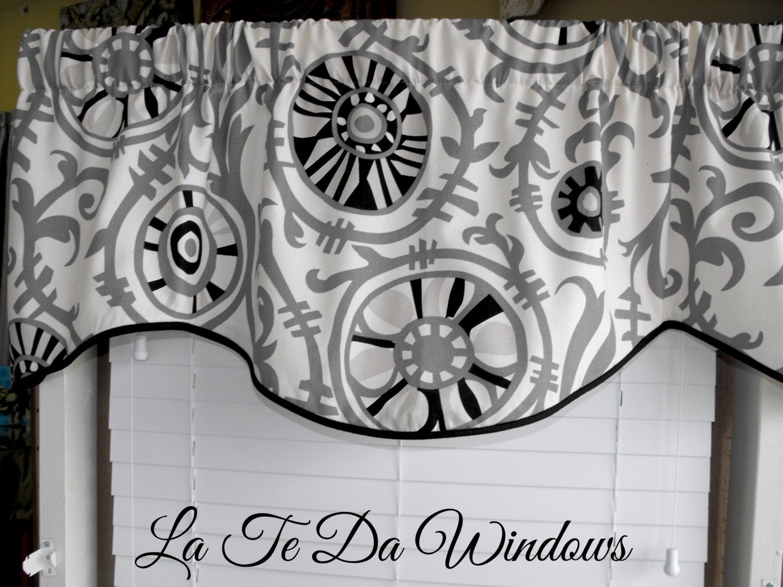 window treatment valance curtain valance black and gray. Black Bedroom Furniture Sets. Home Design Ideas