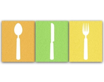 Kitchen Art, INSTANT DOWNLOAD, Fork and Spoon Wall Decor, Kitchen Utensil Art, Home Decor - HOME60