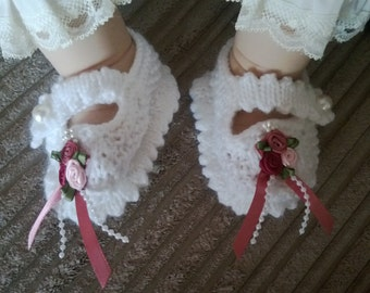 Rosy Mary Jane Baby Shoes 0-3 months