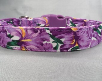 Purple Iris Dog Collar