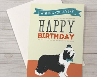 Bearded Collie Birthday Card