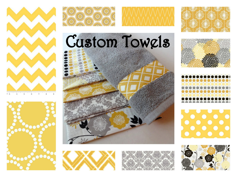 Custom Towels Grey Bathroom Towels Hand Towels Design Your - Personalized bath towels for small bathroom ideas