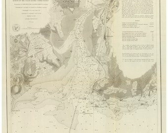 New Haven Harbor  - 1846 Nautical Map - Reprint - 18-USA-1854