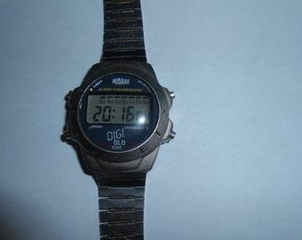 medana alarm chronograph sports watch