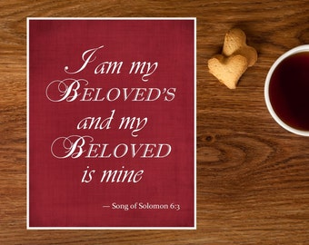 Popular Items For Romantic Bible Verse On Etsy