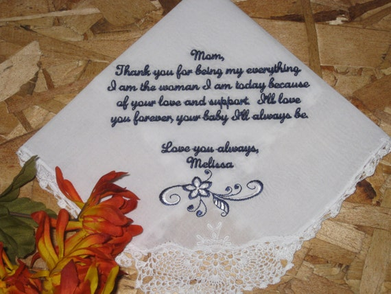 Wedding Gifts For Women: Items Similar To Wedding Handkerchief