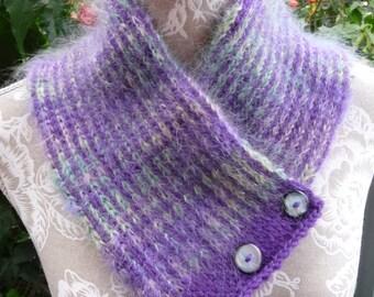 Mohair & Pure Wool Neckwarmer  -  1447