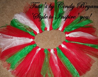 Red Green White Tutu Christmas Sale