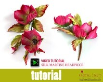 """Video tutorial """"Silk Martine Headpiece"""" hand-made with the Japanese technique"""