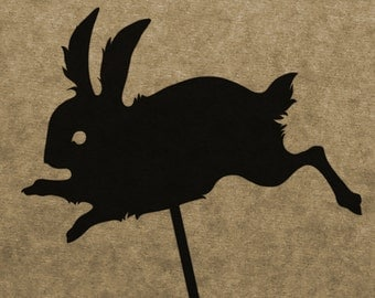 DIY Rabbit Shadow Puppet Pattern (DOWNLOAD)