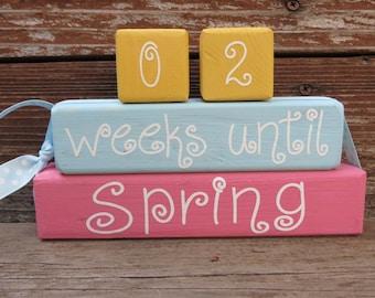 Easter Spring Countdown Blocks