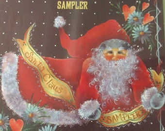 "K Vintage Decorative Tole painting "" Santa Claus Sampler Book 6"" 1994  used booklet 36 pages"
