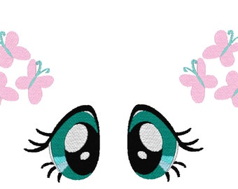 Fluttershy Inspired Eyes and Cutie Mark machine embroidery files