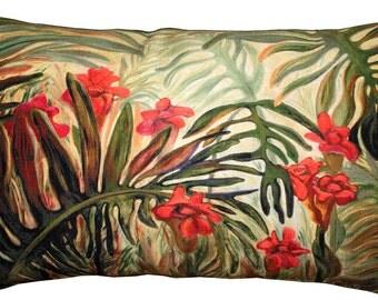 Jungle of Ferns 12x20 Throw Pillow