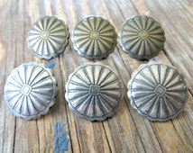 Concho Style Buttons Antiqued Brass- Lead Free Pewter (4, 6, or 10 button lots)