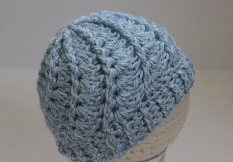 Crochet Hat Pattern Spiral : Textured Beanie Hat Spiral Crochet Hat Choice by ...
